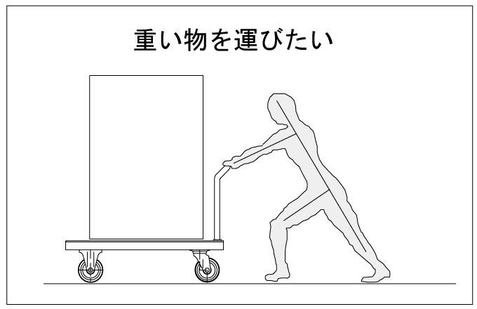 重い物を運びたい。