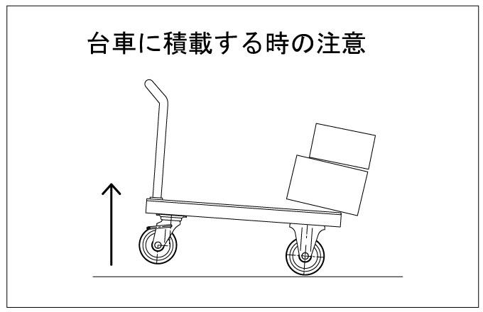 台車に積載する時の注意