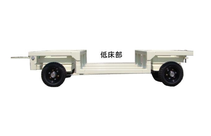 荷台を低くした台車の側面