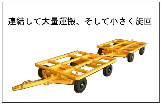 連結して大量運搬_4WS式トレーラー