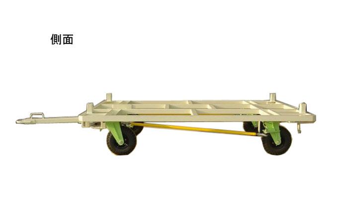 4WSノーパンクキャスター式台車の側面