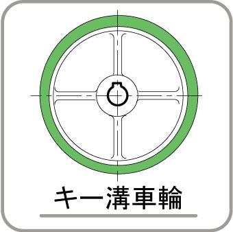 キー溝車輪
